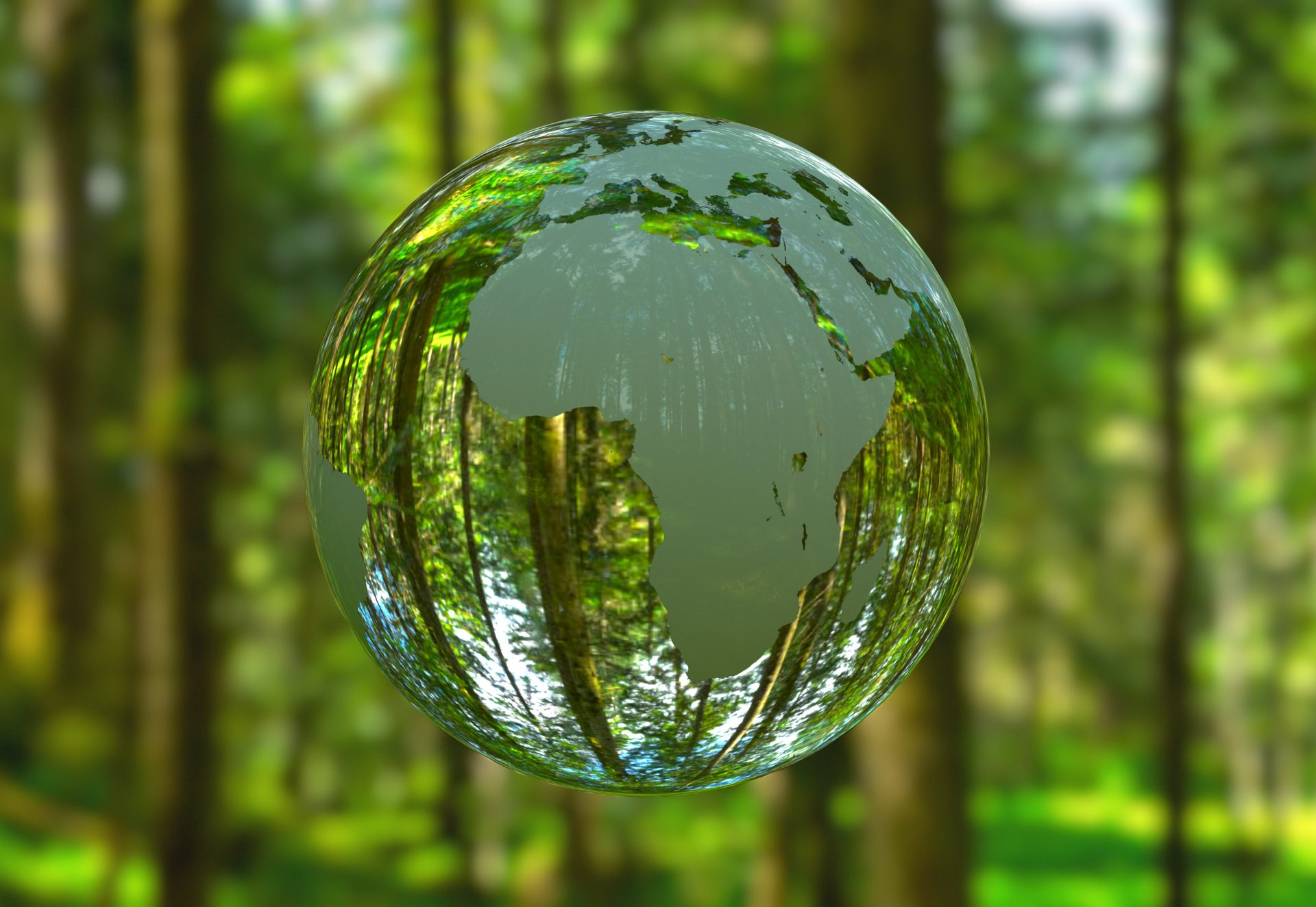 3d,Illustration,-,Planet,Earth,Shaped,Like,A,Crystal,Ball